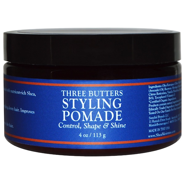 SheaMoisture, Three Butters Styling Pomade, 4 oz (113 g) (Discontinued Item)