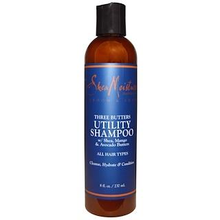 Shea Moisture, Groom & Shave, Three Butters Utility Shampoo, 8 fl oz (237 ml)