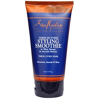 Shea Moisture, Three Butters Styling Smoothie, 6 oz (117 g)