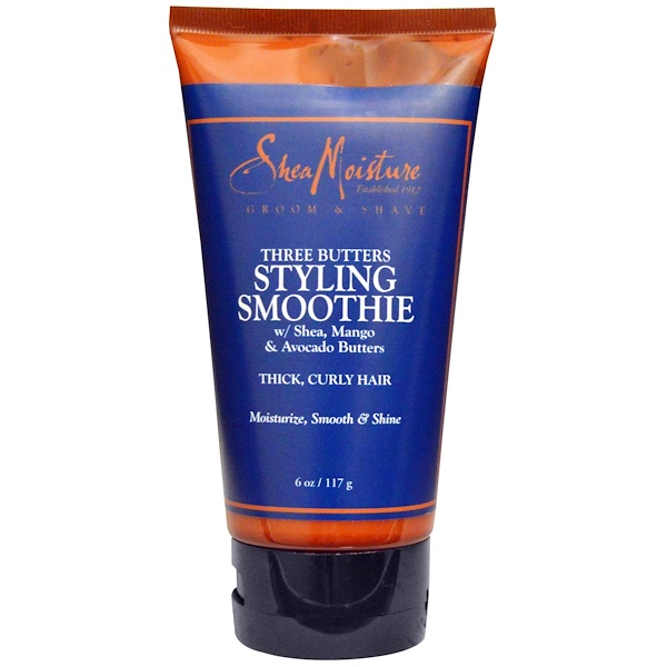 SheaMoisture, Three Butters Styling Smoothie, 6 oz (117 g) (Discontinued Item)