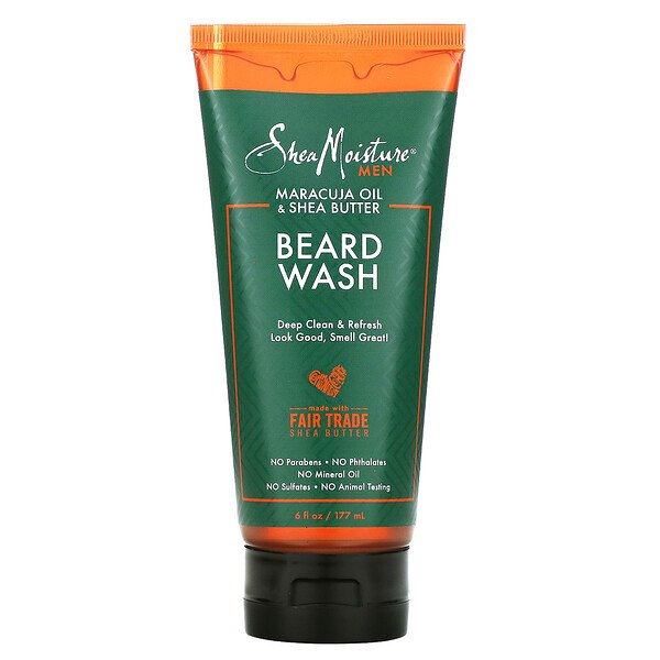 SheaMoisture, Men, Beard Wash, Maracuja Oil & Shea Butter, 6 fl oz (177 ml)