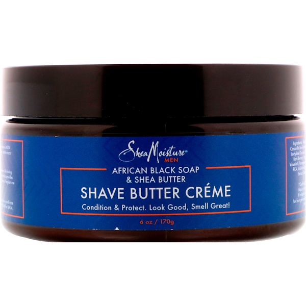 SheaMoisture, African Black Soap & Shea Butter, Shave Butter Creme, 6 oz (170 g) (Discontinued Item)