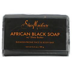 SheaMoisture, 面部瑕疵和身體護理,非洲黑皁和乳木果油,3.5 盎司(99 克)