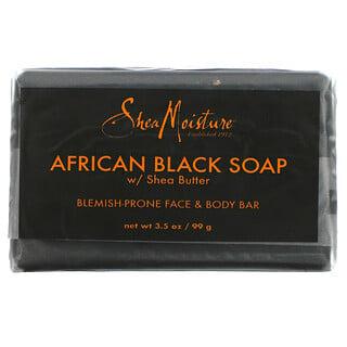 SheaMoisture, Blemish Prone Face & Body Bar,  African Black Bar Soap with Shea Butter, 3.5 oz (99 g)