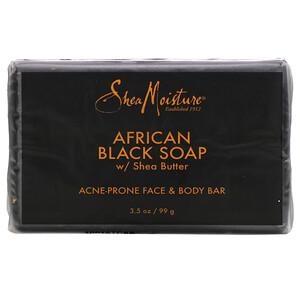 Ши Мойстчэ, Acne Prone Face & Body Bar,  African Black Soap with Shea Butter, 3.5 oz (99 g) отзывы покупателей