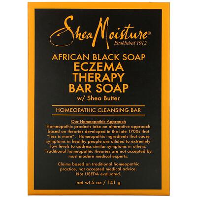 Купить SheaMoisture African Black Soap, Eczema Therapy Bar Soap with Shea Butter, 5 oz (141 g)