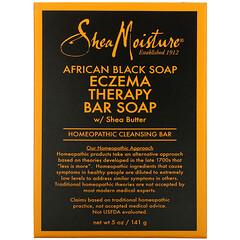 SheaMoisture, 非洲黑皂,乳木果油祛痘護理塊狀皂,5 盎司(141 克)