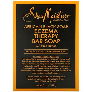 SheaMoisture, африканское черное мыло с маслом ши, кусковое мыло для профилактики экземы, 141г (5унций)