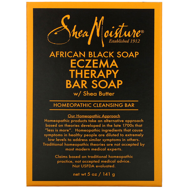 African Black Soap, Eczema Therapy Bar Soap with Shea Butter, 5 oz (141 g)