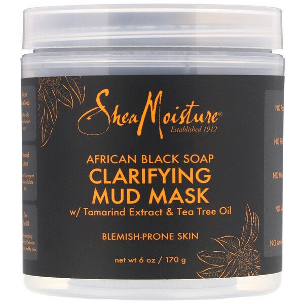 Clarifying Mud Beauty Mask, African Black Soap, 6 oz (170 g)