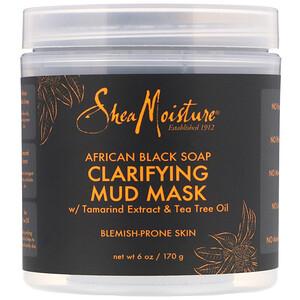 Ши Мойстчэ, Clarifying Mud Mask, African Black Soap, 6 oz (170 g) отзывы