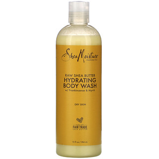 SheaMoisture, необработанное масло ши, увлажняющий гель для душа, 384мл (13жидк.унций)