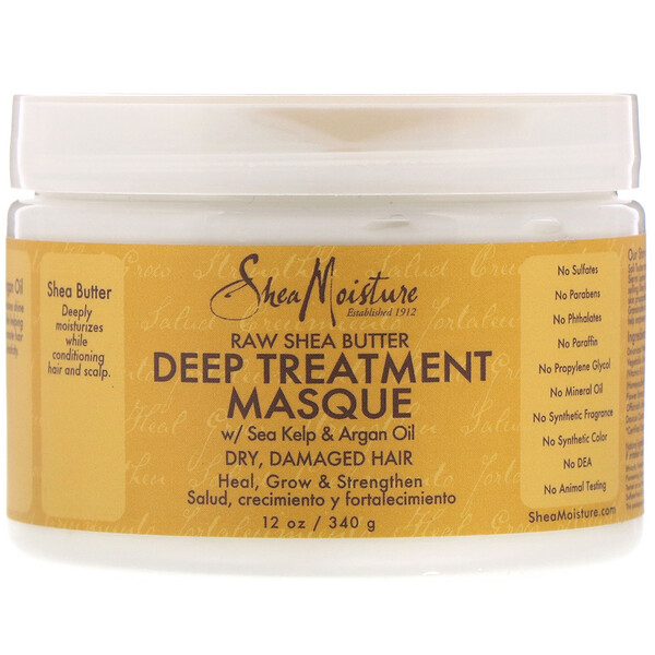 Deep Treatment Masque, Raw Shea Butter, 12 oz (340 g)