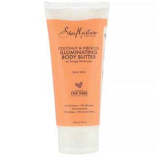 SheaMoisture, Illuminating Body Butter, Coconut & Hibiscus, 6 fl oz (177 ml)