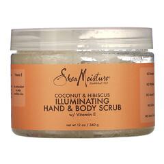 SheaMoisture, 煥膚手部/身體磨砂膏,椰子/木槿花,12 盎司(340 克)
