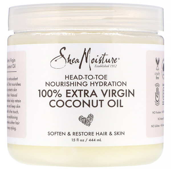 SheaMoisture, 全身滋養油,特級初榨椰子油,15 液量盎司(444 毫升)