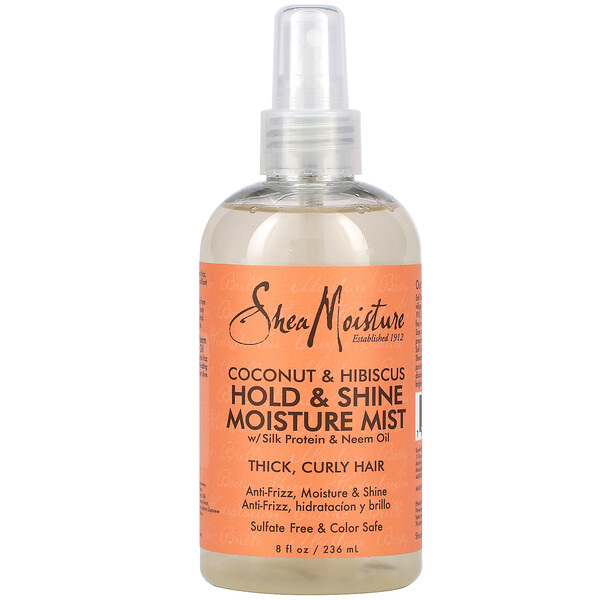 Hold & Shine Moisture Mist with Silk Protein & Neem Oil, Coconut & Hibiscus , 8 fl oz (236 ml)