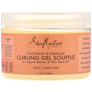 Ши Мойстчэ, Curling Gel Souffle, Coconut & Hibiscus, 12 oz (340 g) отзывы покупателей