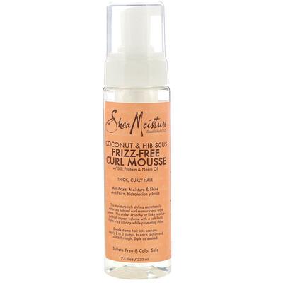 SheaMoisture Кокос и гибискус, разглаживающий мусс для вьющихся волос, 220 мл (7,5 жидк.унции)