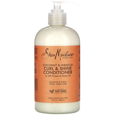 Купить SheaMoisture Curl & Shine Conditioner, Coconut & Hibiscus, 13 fl oz (384 ml)