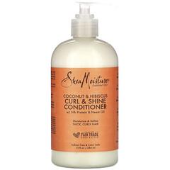 SheaMoisture, 卷髮潤澤護髮素,椰子/木槿花,13 液量盎司(384 毫升)