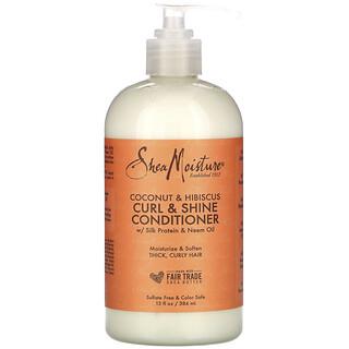 SheaMoisture, Curl & Shine Conditioner, Coconut & Hibiscus, 13 fl oz (384 ml)