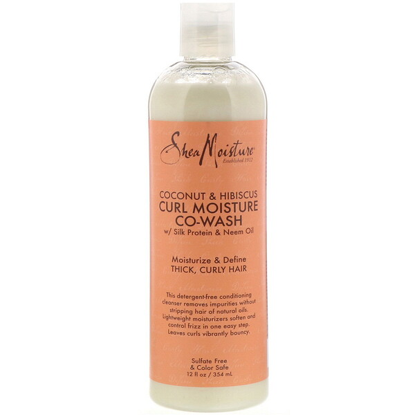 SheaMoisture, Coconut & Hibiscus, Curl Moisture Co-Wash, 12 fl oz (354 ml)