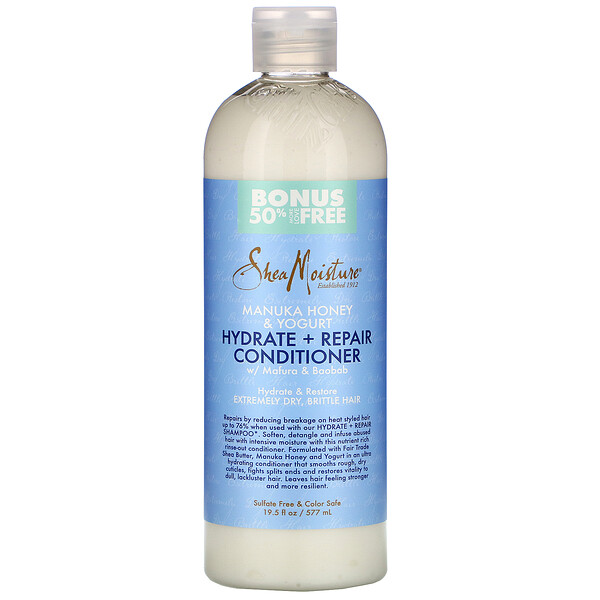 SheaMoisture, Manuka Honey & Yogurt, Hydrate & Repair Conditioner, 19.5 fl oz (577 ml)