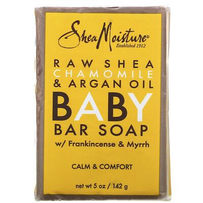 SheaMoisture Детское кусковое мыло против экземы, необработанное масло ши, ромашка и аргановое масло, 141 г (5 унций)