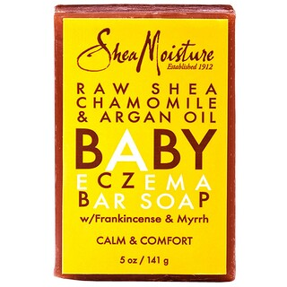Shea Moisture, Baby Eczema Bar Soap, Raw Shea Chamomile & Argan Oil, 5 oz (141 g)