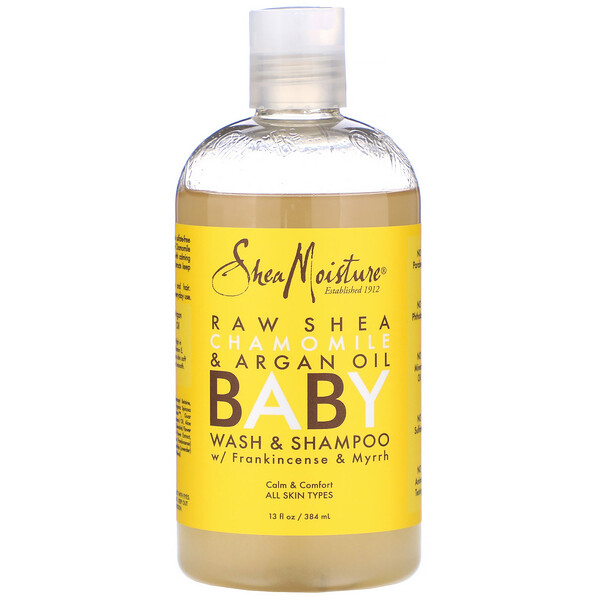 SheaMoisture, Baby Wash & Shampoo, With Frankincense & Myrrh, 13 fl oz (384 ml) (Discontinued Item)