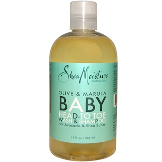 Shea Moisture, Olive & Marula Baby Head-To-Toe Wash & Shampoo, 12 fl oz (355 ml)