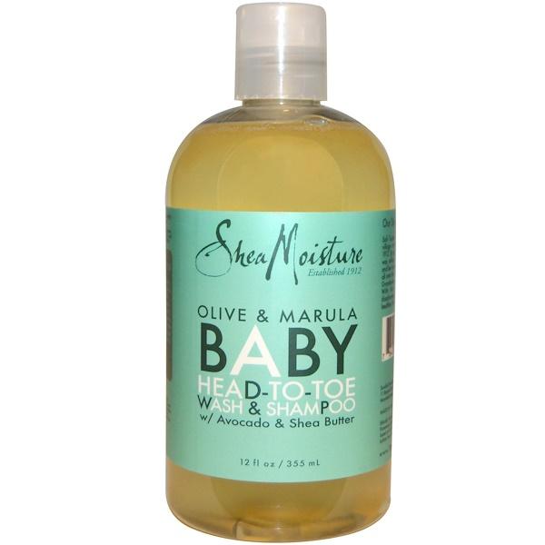 Shea Moisture, Olive & Marula Baby Head-To-Toe Wash & Shampoo, 12 fl oz (355 ml)
