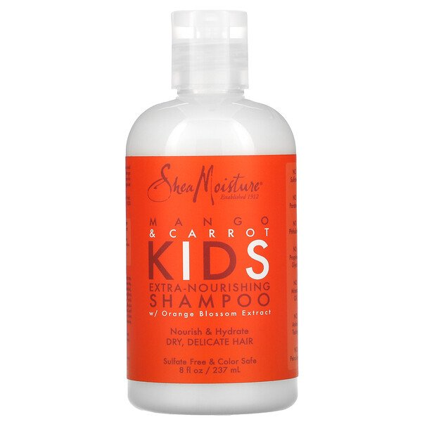Kids Extra-Nourishing Shampoo, Mango & Carrot, 8 fl oz (237 ml)
