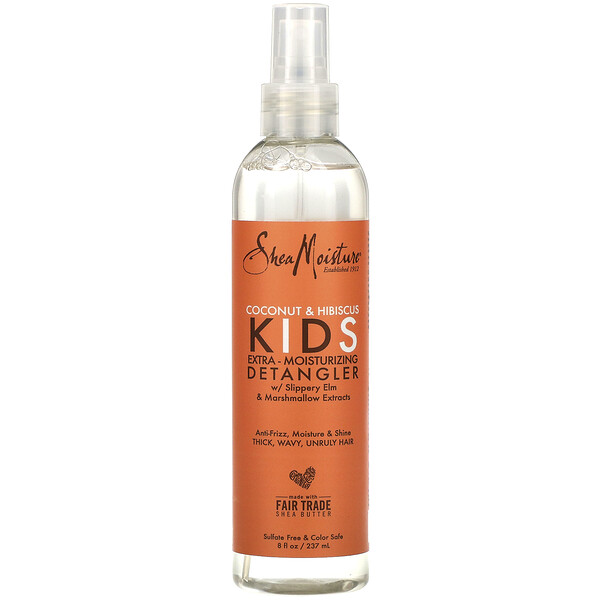 SheaMoisture, Kids Extra-Moisturizing Detangler, Coconut & Hibiscus, 8 fl oz (237 ml)