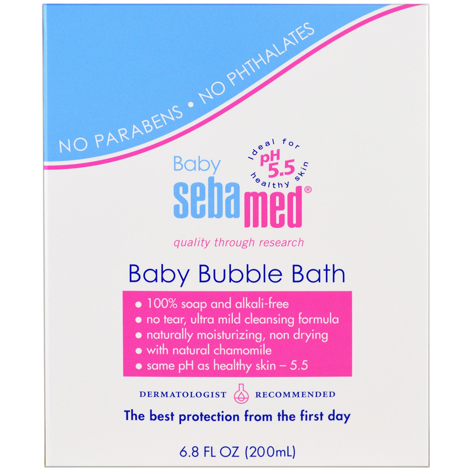 Sebamed USA, Детская пена для ванн, 6.8 унции (200 мл)