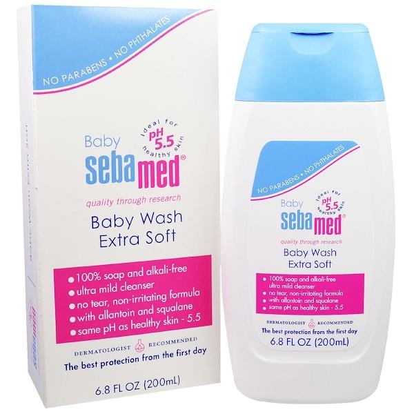 Sebamed USA, Baby Wash, Extra Soft, 6.8 fl oz (200 ml) (Discontinued Item)