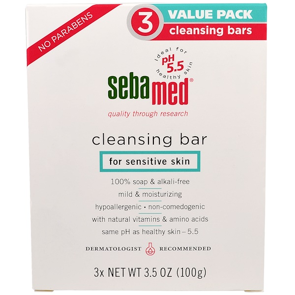 Sebamed USA, Cleansing Bar, 3 Pack (Discontinued Item)