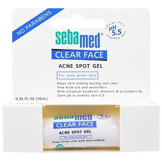 Sebamed USA, Clear Face, Acne Spot Gel, 0.34 fl oz (10 ml)