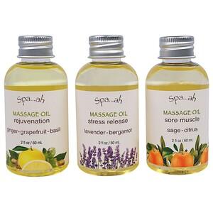 Смит и Вандивер, Spa…ah, Massage Oils Sampler, 3 Piece Set, 2 fl oz (60 ml) Each отзывы покупателей