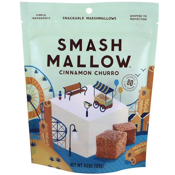 SmashMallow, Cinnamon Churro, 4.5 oz (128 g)