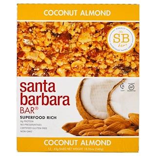 Santa Barbara Bar, Coconut Almond, 12 Bars, 18.96 oz (540 g)