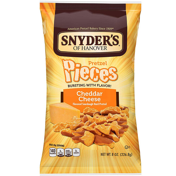 Snyder's, Pretzel Pieces, Cheddar Cheese, 8 oz (226.8 g)