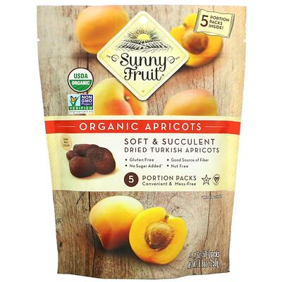 Купить Sunny Fruit Organic Apricots, 5 Portion Packs, 1.76 oz ( 50 g) Each