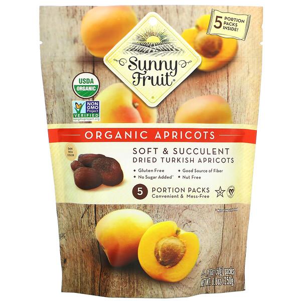 Sunny Fruit, Organic Apricots, 5 Portion Packs, 1.76 oz ( 50 g) Each