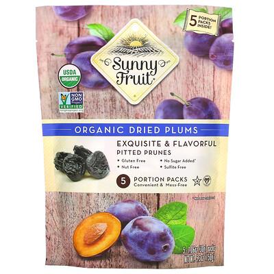 Купить Sunny Fruit Organic Dried Plums, 5 Portion Packs, 1.06 oz ( 30 g) Each