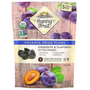 Sunny Fruit, Organic Dried Plums,  5 Portion Packs, 1.06 oz (30 g) Each
