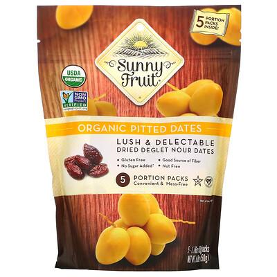 Купить Sunny Fruit Organic Pitted Dates, 5 Portion Packs, 1.76 oz ( 50 g) Each