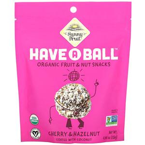 Sunny Fruit, Have A Ball, Organic Fruit & Nut Snacks, Cherry & Hazelnut, 4.44 oz (126 g)
