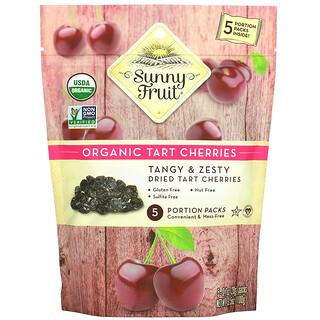Sunny Fruit, Organic Tart Cherries, 5 Portion Packs, 0.7 oz (20 g) Each